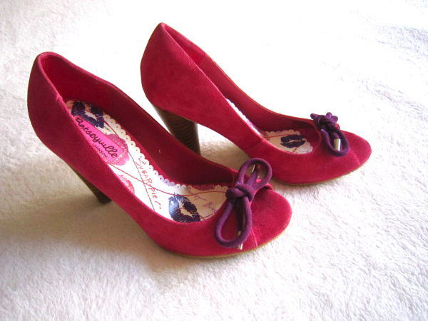 Betsey Johnson Hot Pink Suede Heels