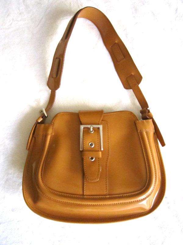 Browns Couture Mustard Leather Shoulder Bag