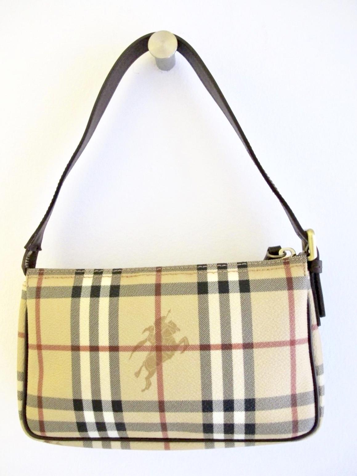 Burberry Nova Check Baguette Shoulder Bag