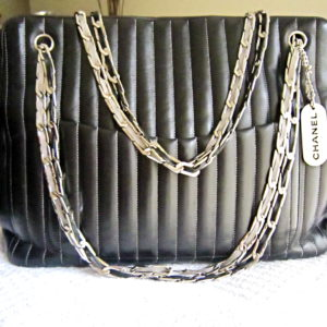 Chanel Black Lambskin Mademoiselle Tote Bag