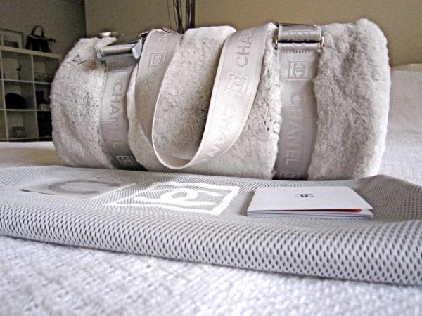 Chanel Limited Edition Grey Rabbit Fur Handbag