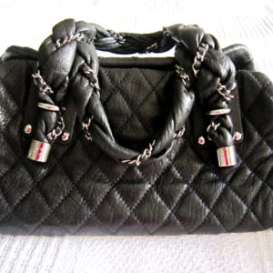 Chanel Limited Edition Lambskin Lady Braid Bowler Purse
