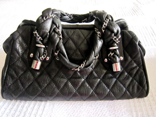 Chanel Limited Edition Lambskin Lady Braid Bowler Purse