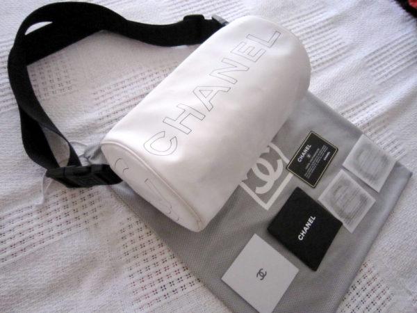 Chanel White Boston 3-Way Messenger Bag