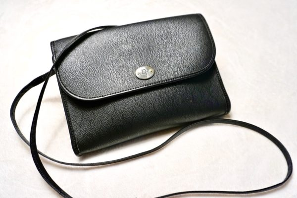 Christian Dior Vintage Black Crossbody Bag