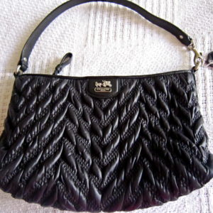 Coach Black Madison Gathered Handbag