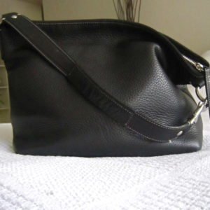 Coach Black Pebble Leather Hobo Bag-1