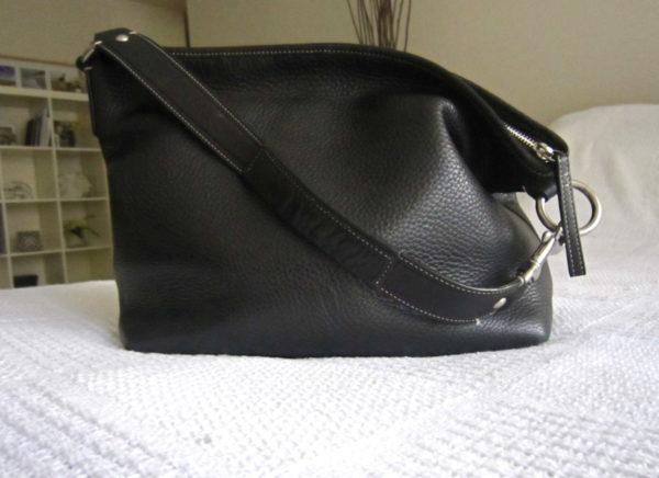 Coach Black Pebble Leather Hobo Bag-1