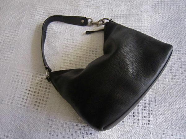 Coach Black Pebble Leather Hobo Bag