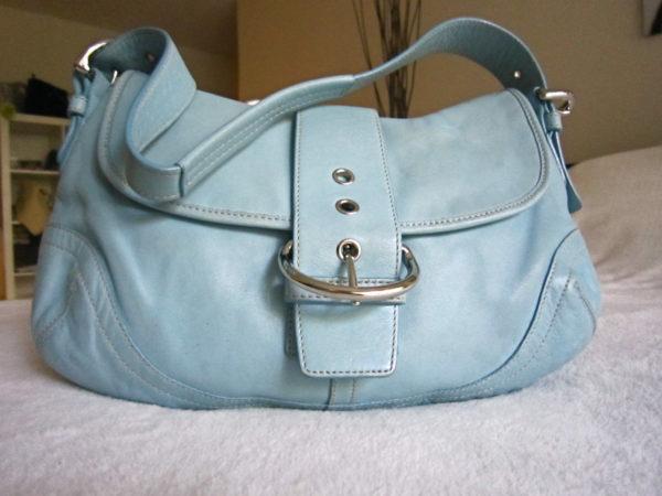 Coach Blue Leather Soho Hobo Bag