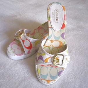 Coach Perry Multicolor Sandals