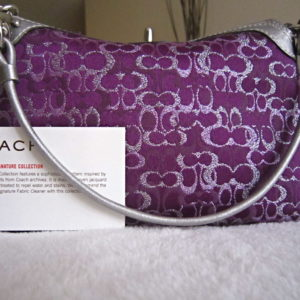 Coach Signature Purple Pochette