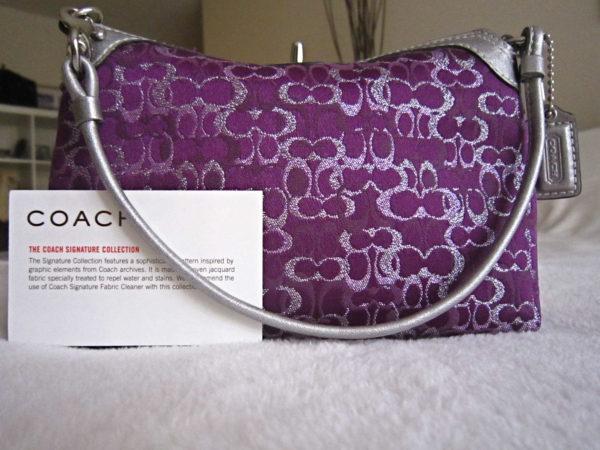 Coach Signature Purple Pochette