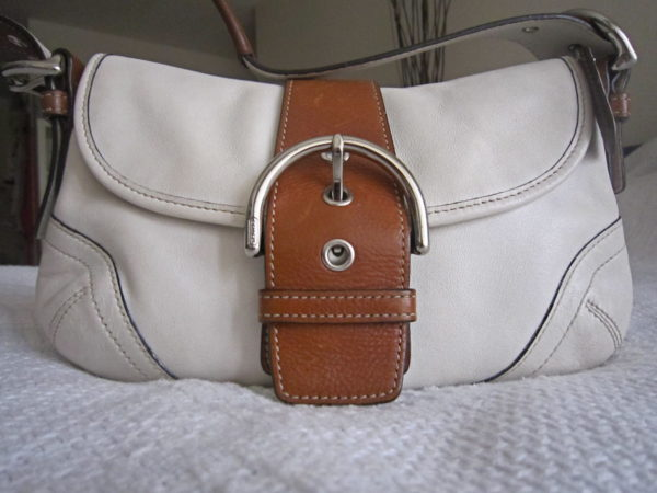 Coach White Soho Hobo Bag