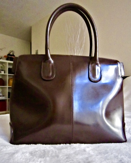 Cristian Brown Patent Leather Tote-1