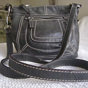 Danier Black Leather Crossbody Bag