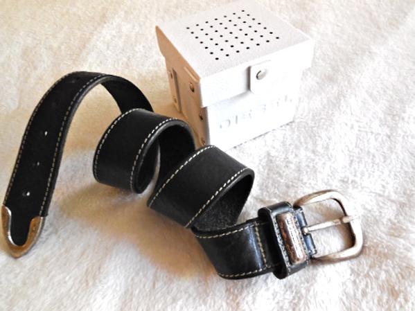 Diesel Black Boston Leather Belt