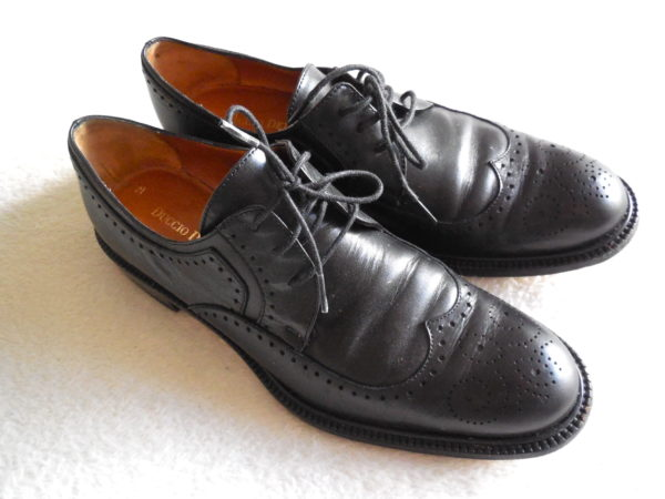 Duccio Del Duca Milano Black Leather Oxford Shoes