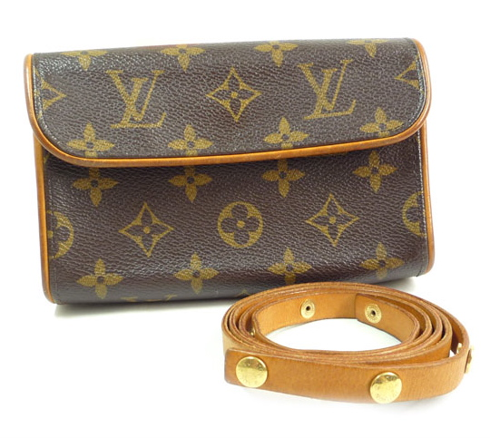 Louis Vuitton Monogram Florentine Pochette Clutch on Belt