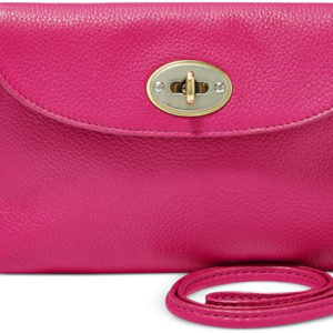 Fossil Monica Pink Leather Mini Crossbody