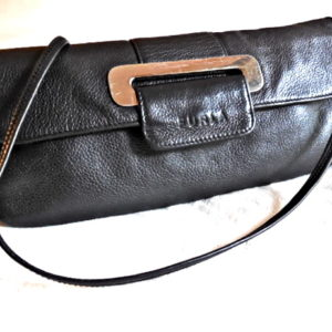 Furla Black Leather Clutch