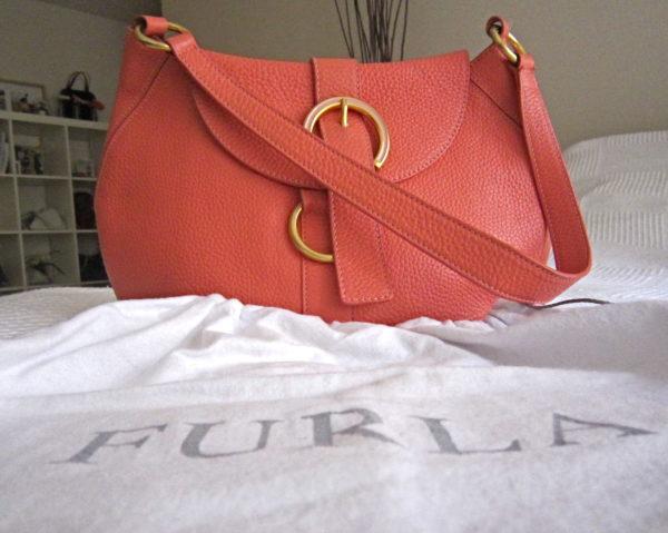 Furla Coral Leather Hobo Bag