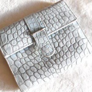 Furla Light Blue Croc Bi-Fold Wallet