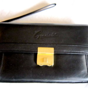 Gacini Black Leather Clutch
