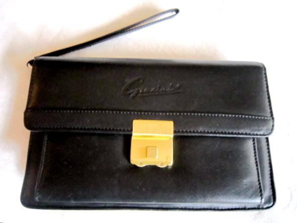 Gacini Black Leather Clutch
