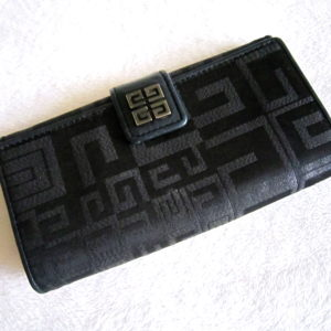 Givenchy Black Signature Long Wallet