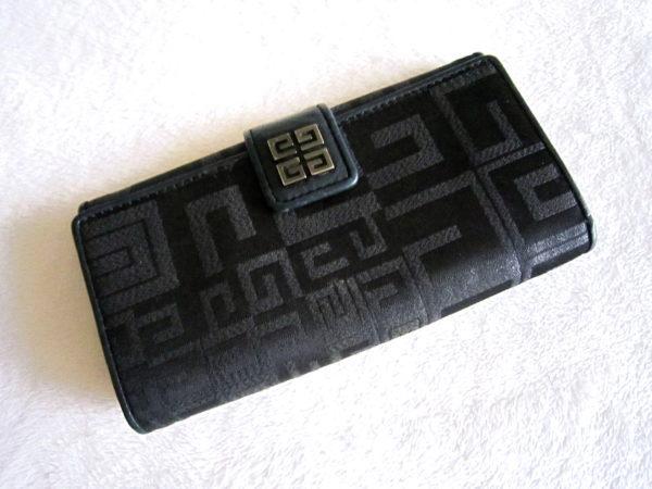 Givenchy Black Signature Long Wallet