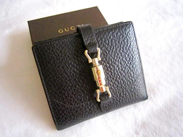 Gucci Black Leather Bi-Fold Wallet