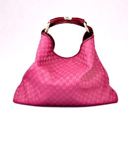 Gucci Fuchsia Horsebit Large Hobo Bag