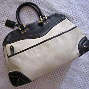 Gucci Large Fabric and Leather Shoulder Bag