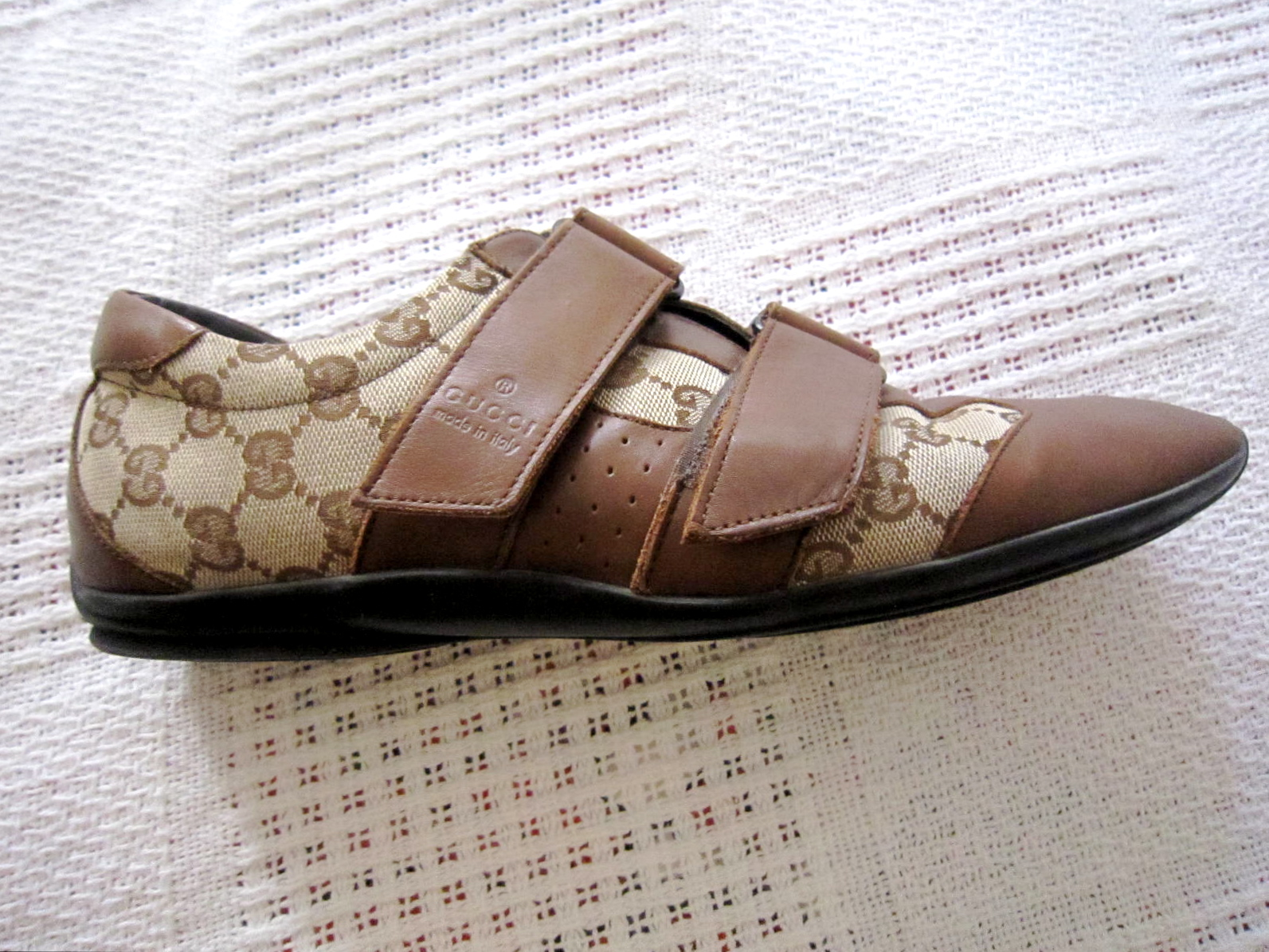 Gucci Mens Brown GG Guccissima Leather