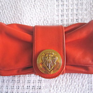 Gucci Red Hysteria Gathered Flap Clutch-1