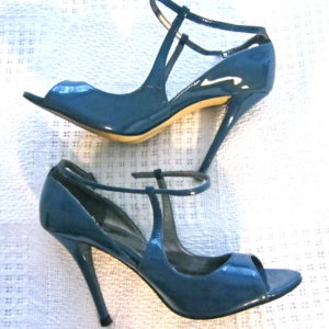 Guess by Marciano Blue Patent Leather Heels