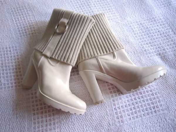 Guess by Marciano White Leather Boots