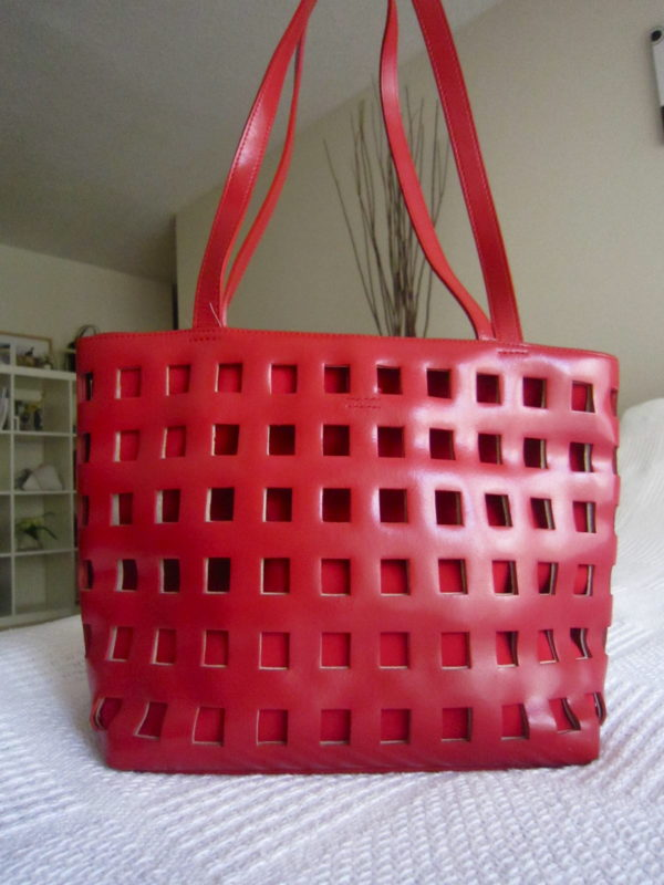 Holt Renfrew Red Cage Tote
