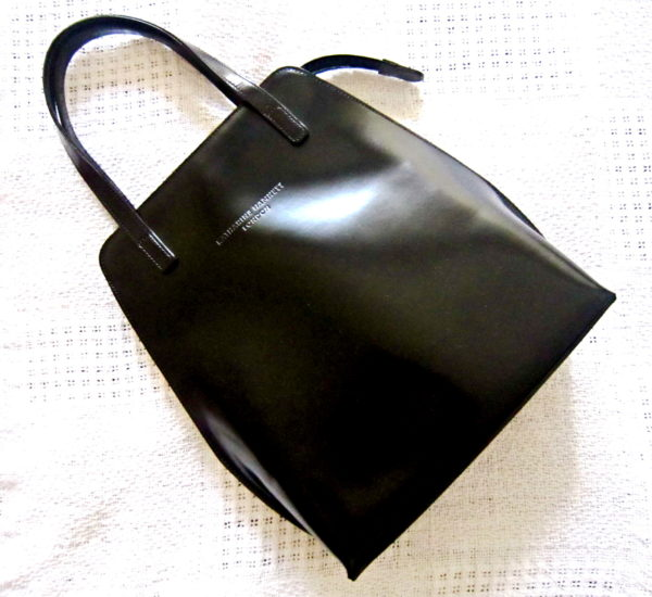 Katharine Hamnett London Black Leather Handbag