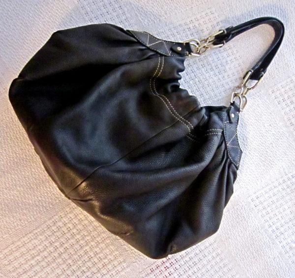 Laundry by Shelli Segal Black Leather Hobo Bag