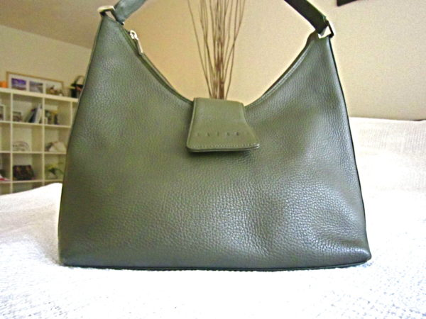 Lazaro Olive Leather Hobo Bag