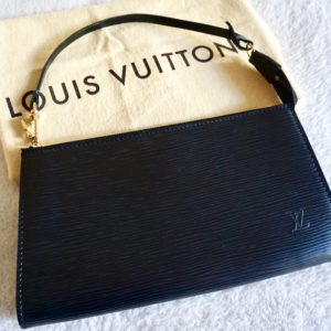 Louis Vuitton Black Epi Leather Pochette Handbag