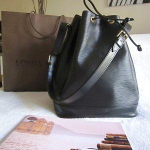 Louis Vuitton Large Black Epi Noe Handbag
