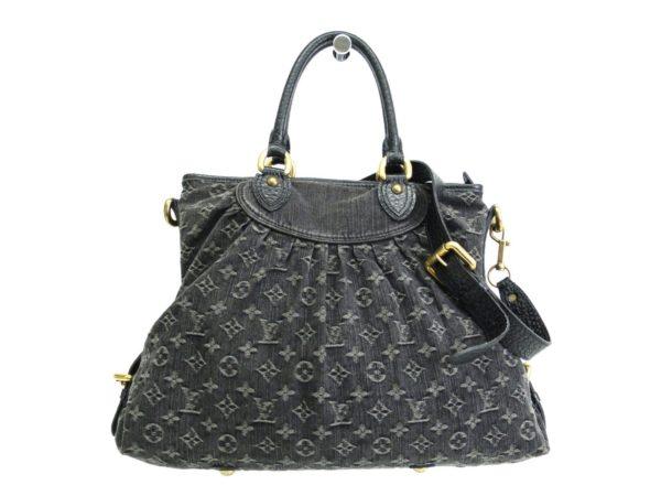 Louis Vuitton Black Monogram Denim Neo Cabby GM Shoulder Bag