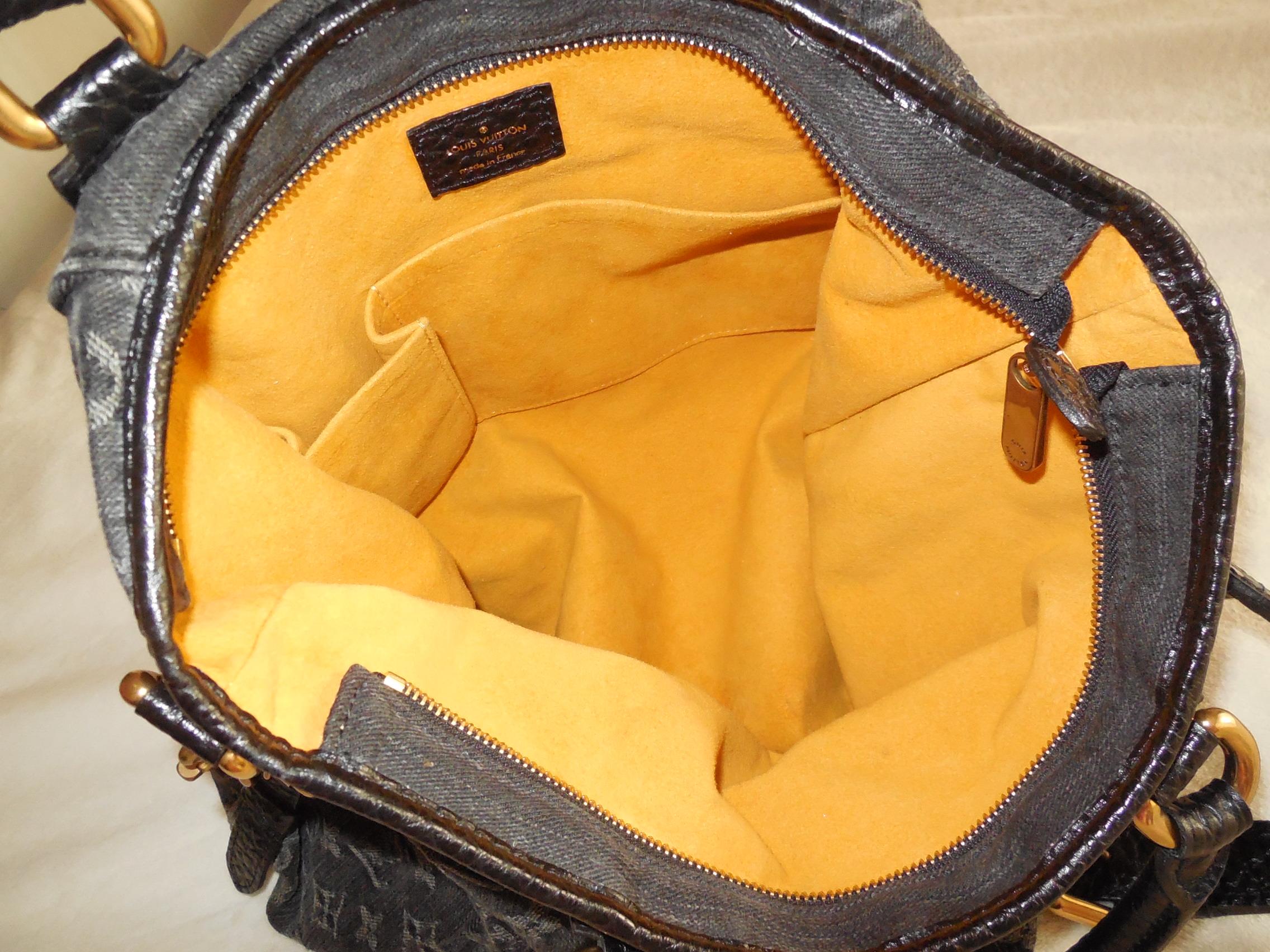 d932bb151fb Louis Vuitton Black Monogram Denim Neo Cabby GM Shoulder Bag ...