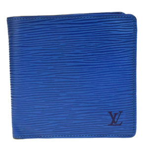 Louis Vuitton Blue Epi Leather Marco Wallet