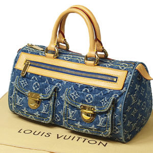 Louis Vuitton Blue Monogram Denim Neo Speedy Handbag