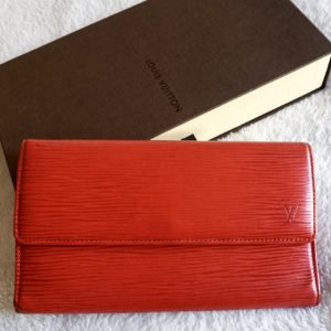Louis Vuitton Carmine Red Epi Sarah Wallet