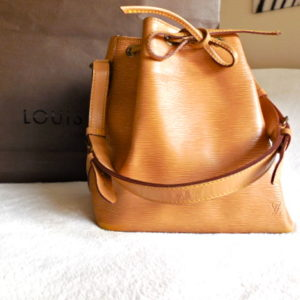 Louis Vuitton Gold Cipango Petit Noe Epi Bucket Bag